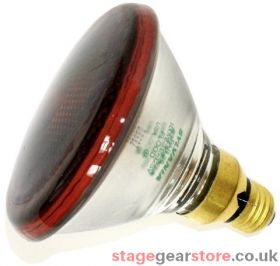 Branded Theatre Lamp - PAR 38 - 80w ES Fitting RED