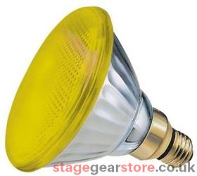Branded Theatre Lamp - PAR 38 - 80w ES Fitting YELLOW