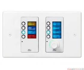 BSS EC-8BV, White, Ethernet Controller with 8 Buttons and Volume Control