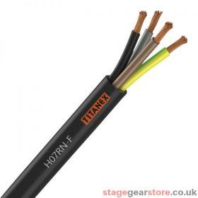 Titanex H07-RNF 4mm 4 Core Rubber Cable 100m
