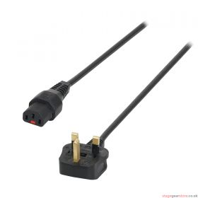 IEC LOCK 1m 13A - C13 IEC Lock Cable (5A Fuse) PC935