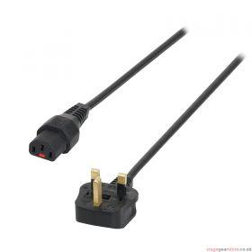 IEC LOCK 5m 13A - C13 IEC Lock Cable (5A Fuse) PC1010