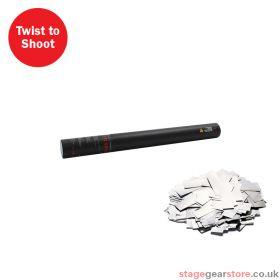 The Confetti Maker Handheld Confetti Cannon 50cm Silver Metallic