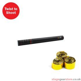 The Confetti Maker Handheld Streamer Cannon 50cm Gold Metallic