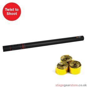 The Confetti Maker Handheld Streamer Cannon 80cm Gold Metallic