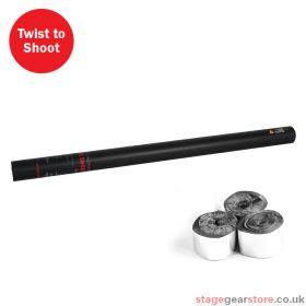 The Confetti Maker Handheld Streamer Cannon 80cm Silver Metallic