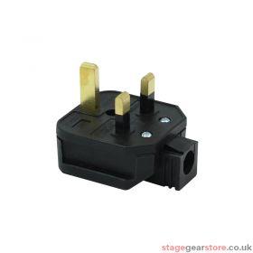 Masterplug 13A HD Mains Plug, Black (HDPT13B)