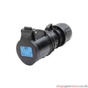 PCE 16A 230V 2P+E Black Socket (213-6X)