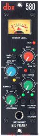 DBX 580 500 Series Premium Low Noise Mic Pre 1U/3U