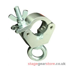 Doughty T58990 Atom Hanging Clamp, To Suit 38mm, Polished Ali.