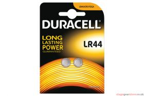 Duracell LR44 Lithium Button Cell Battery (Pk 2)