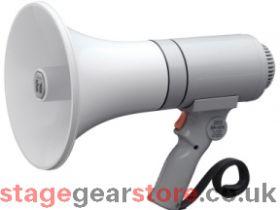 TOA ER-1215 Handheld Megaphone, 15W, Grey, Range 315m
