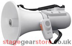 TOA ER-2215W Shoulder Megaphone, 15W, Grey, built in Whistle, 400m/500m