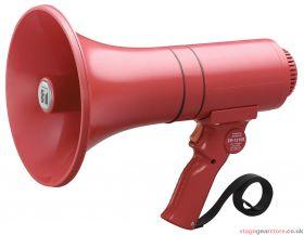 TOA ER-1215S Handheld Megaphone, 15W, Siren, Red, Range 315m/500m