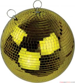 FX Lab Gold Mirror Ball with Dual Hanging Points Size 400mm (16inch)