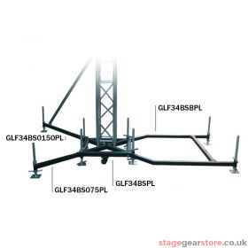 Global Truss Ground Support F34 PL BS0-150 Steel Outrigger 1.5m