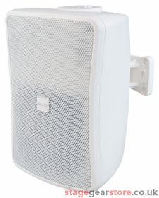 """Inter M WS80T-WK 80W 6.5"""" 2-way Full Range Music Speaker, 100v line / Low Z - White"""