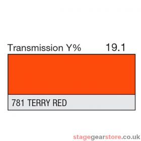 Lee Lighting Filter Sheet 781 Terry Red