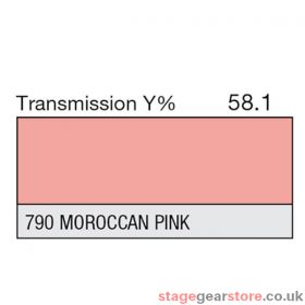 Lee Lighting Filter Sheet 790 Morocca Pink