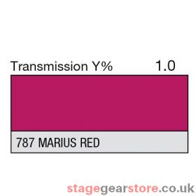 Lee Lighting Filter Sheet 787 Marius Red