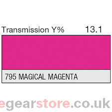 Lee Lighting Filter Sheet 795 Magical Magenta