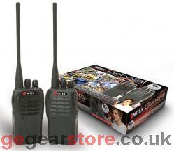 MITEX General 5 watt UHF Two Way Radio, Twin Pack