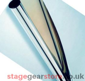 Discontinued - Rosco 39322 - Self adhesive mirror Roll (65.5cm x 100m)