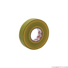 eLumen8 Premium PVC Insulation Tape 2702 19mm x 33m - Yellow/Green