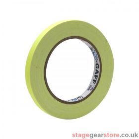 eLumen8 Fluorescent Cloth Gaffer Tape 3170 12mm x 23m - Yellow