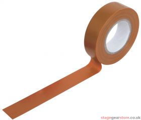 PVC Tape Roll 19mm x 20m - Brown
