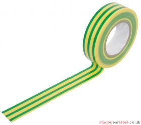 PVC Tape Roll 19mm x 20m - Green/Yellow