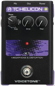 TC HELICON Voicetone X1 - Megaphone & Distortion Stompbox