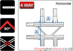 Trilite 2LDJ4H  Ladder Truss Junction