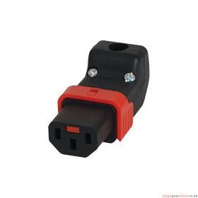 IEC LOCK IEC C13 Rewireable Socket (Up/Down)