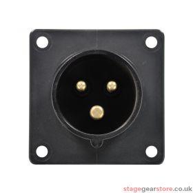 PCE 16A 230V 2P+E Black Appliance Inlet (613-6X)