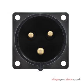 PCE 32A 230V 2P+E Black Appliance Inlet (623-6X)