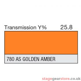Lee Lighting Filter Sheet 780 AS Gold Amber