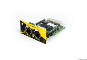 Allen & Heath SQ WAVES Module for SQ Series mixers, 64x64 bi-directional audio, 96kHz/48kHz, 2 EtherCon ports